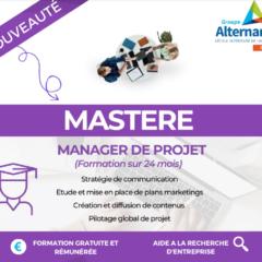 Nouvelle formation Groupe alternance Reims Mastère Manager projet